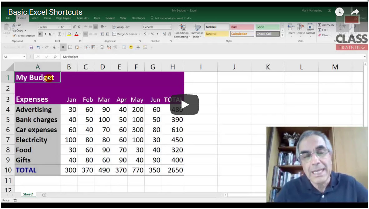 Basic Excel Shortcuts