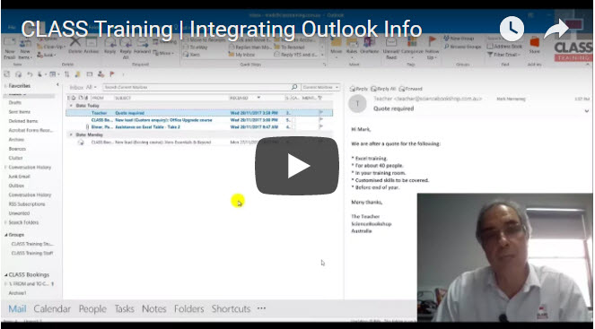 Integrating Outlook Stuff