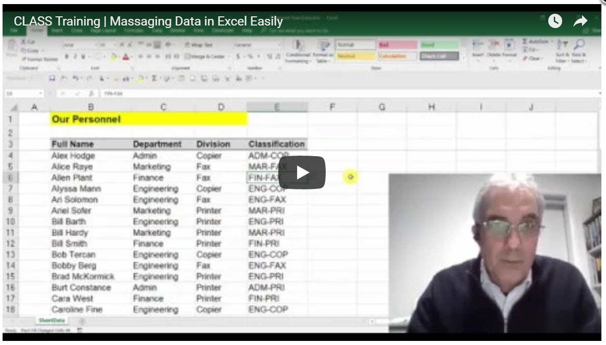 Manipulating Data Easily in Excel